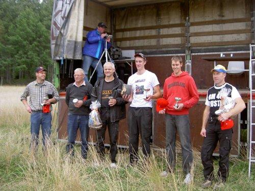 Pristagare från höger Åke, Jakob, Johnny, Bosse, Börje och Mikael