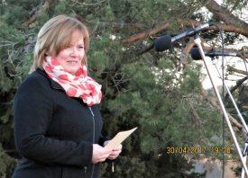Chatrine Schander Ljungquist håller vårtalet